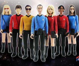 Bif Bang Pow Star Trek x Big Bang Theory SDCC Exclusive Action Figures