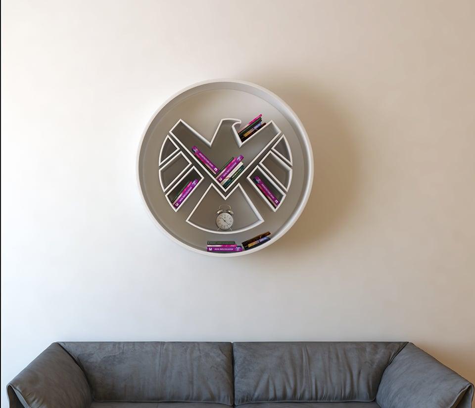 Superhero Logo Bookshelf Concepts