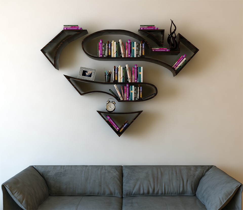 My Favorite Is The Red Over Yellow Wonder Woman Shelf Visit Buraks Behance Page For More Shots Of Concepts