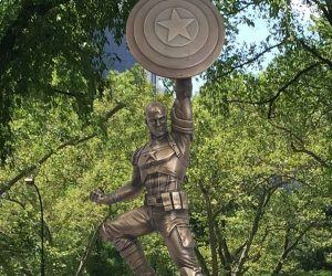 Marvel Unveils 13-Foot Tall Bronze Captain America Statue