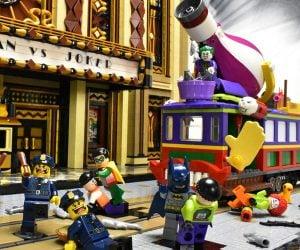 LEGO Batman vs Joker Theater Showdown Diorama