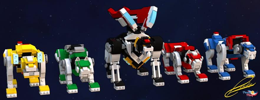 Green Lion Voltron LEGO Voltron: Legendar...