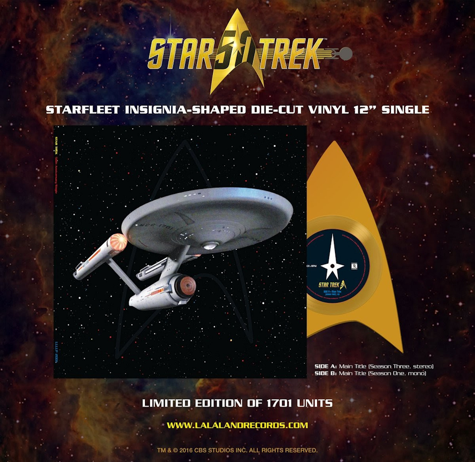 Starfleet Delta Symbol Shaped Vinyl Single