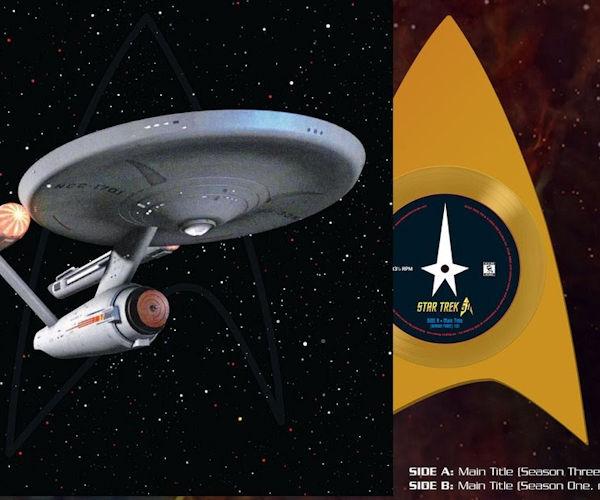 Starfleet Delta Symbol Shaped Vinyl Single