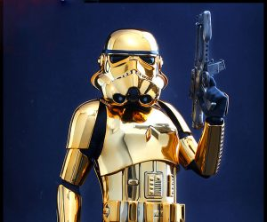 Hot Toys Star Wars Gold Chrome Stormtrooper 1/6 Scale Action Figure