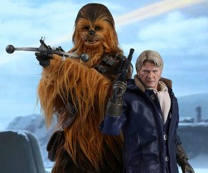 Hot Toys The Force Awakens Han Solo & Chewbacca 1/6 Scale Action Figures