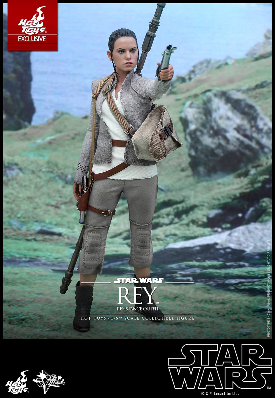 Hot Toys Star Wars VII Rey Resistance 1/6 Scale Action Figure