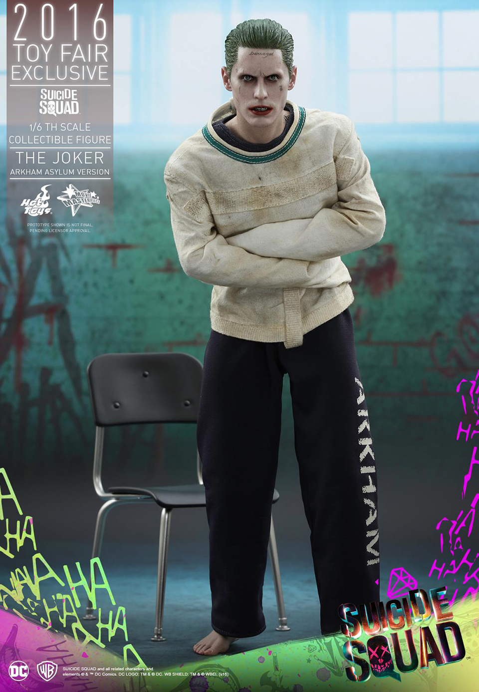Hot Toys Suicide Squad the Joker Arkham Asylum 1/6 Scale Figure