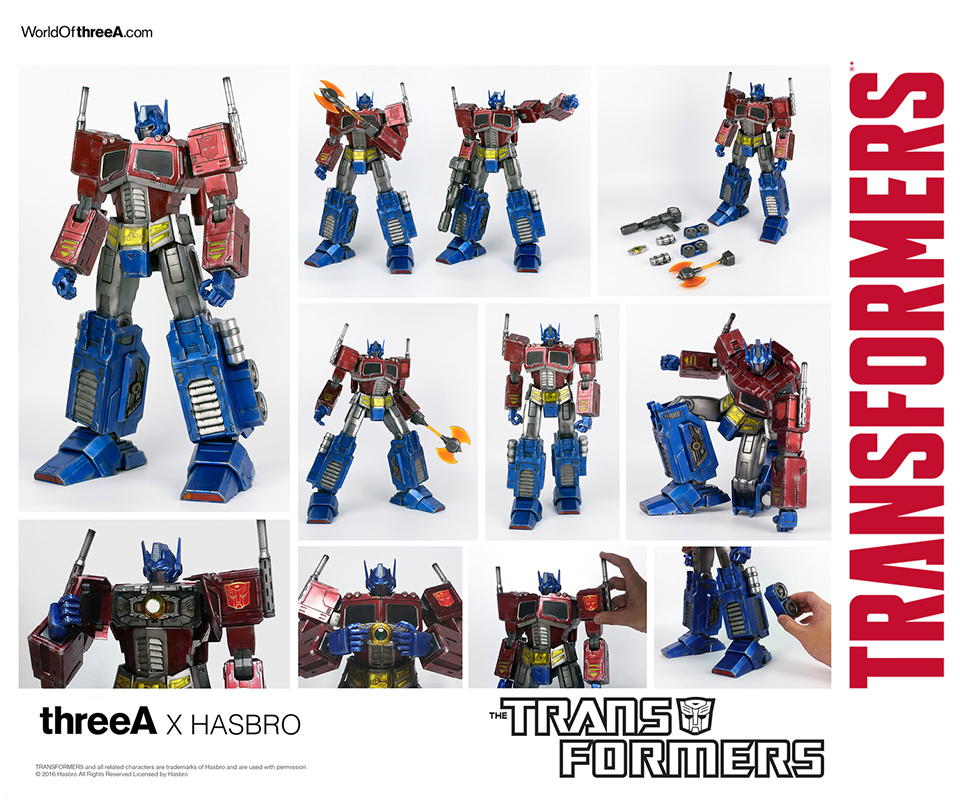 3A Toys x Hasbro Transformers G1 Optimus Prime Action Figure