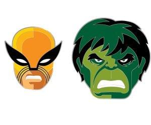 Mondo Wolverine & Hulk Pins