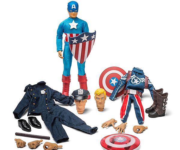ThinkGeek Captain America Retro Set
