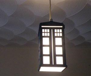 DIY Laser-cut TARDIS Lampshade