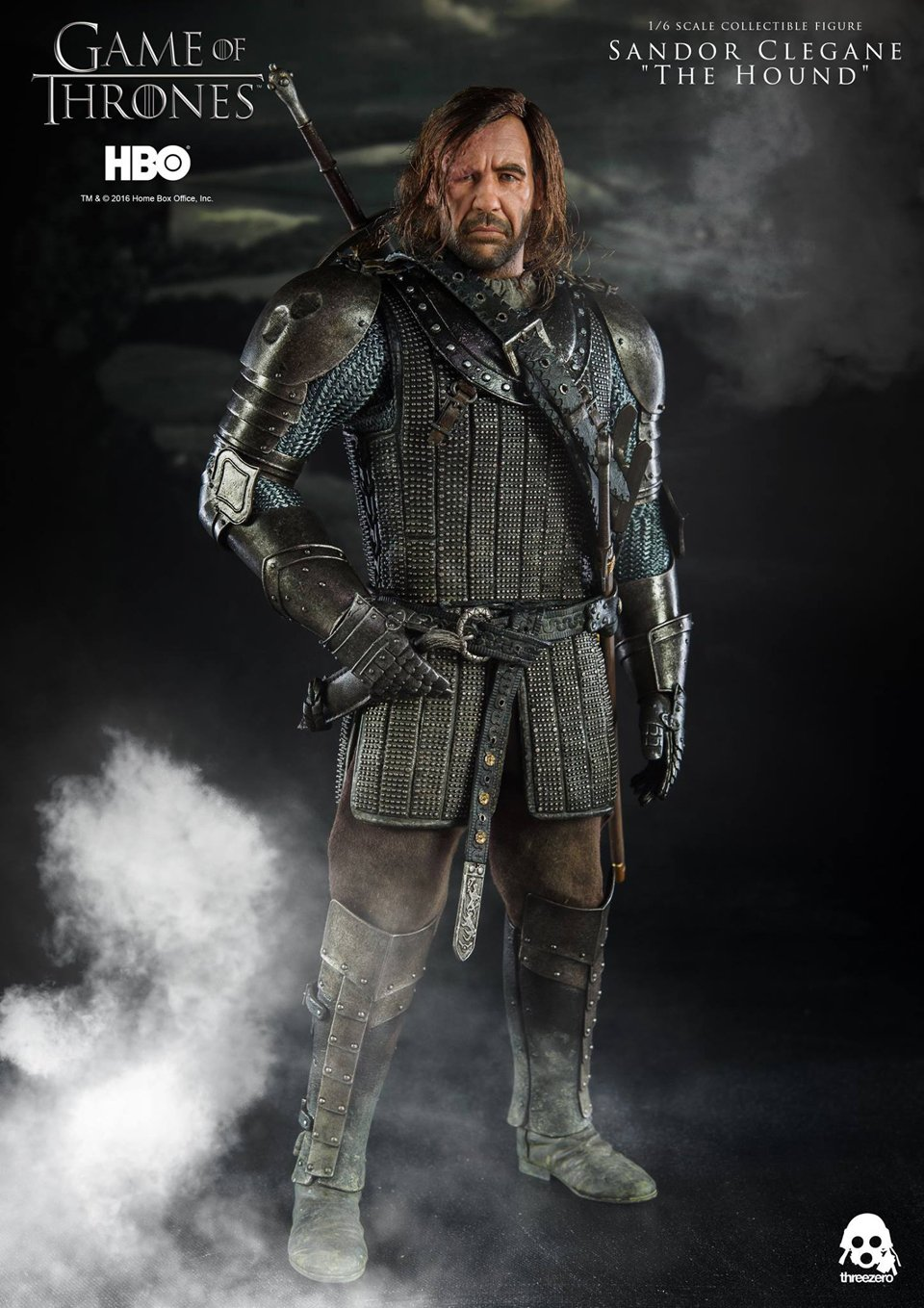 Threezero Game of Thrones Sandor Clegane 1/6 Scale Action Figure