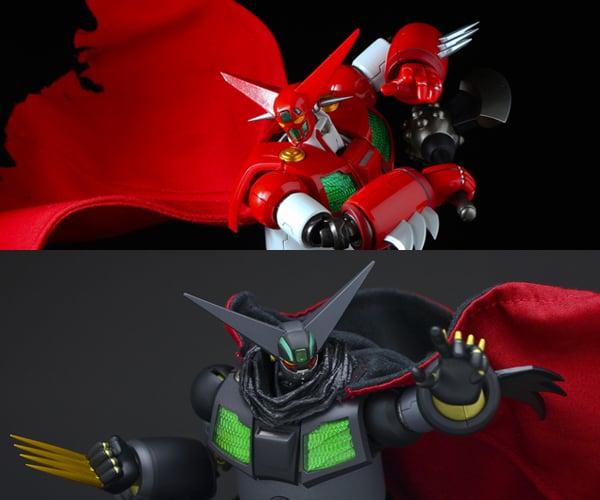 Sentinel x T-REX Getter-1 & Black Getter Action Figures