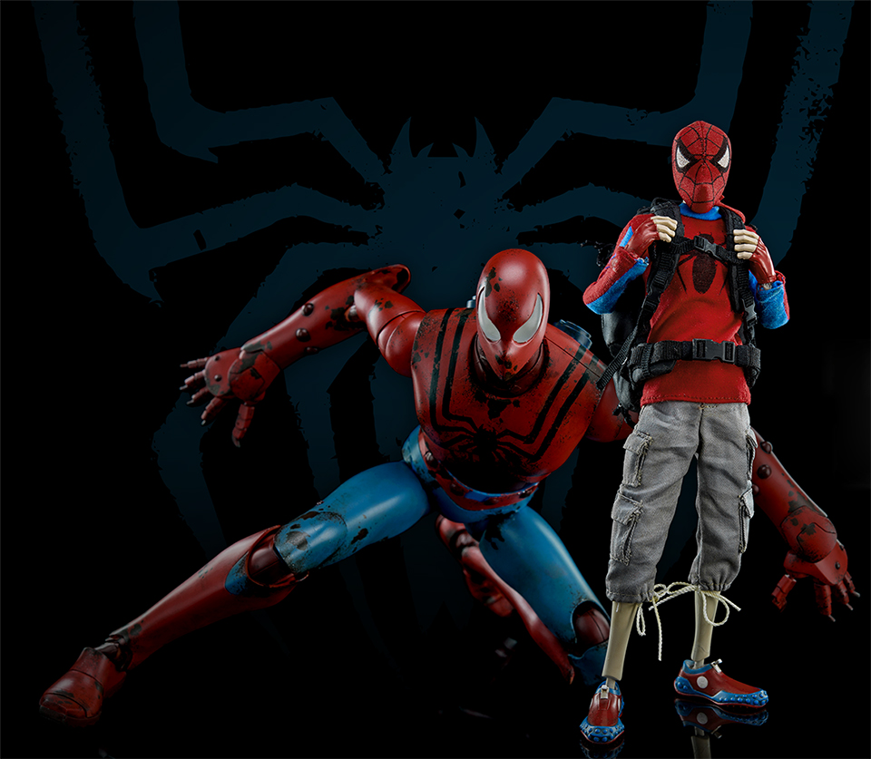 3A Toys Peter Parker & Spider-Bot Action Figures