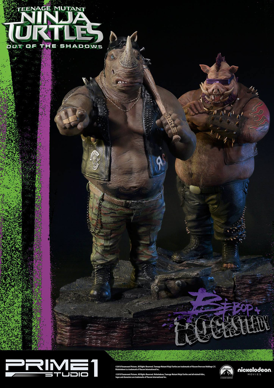 Prime 1 Bebop & Rocksteady 1/4 Scale Statues