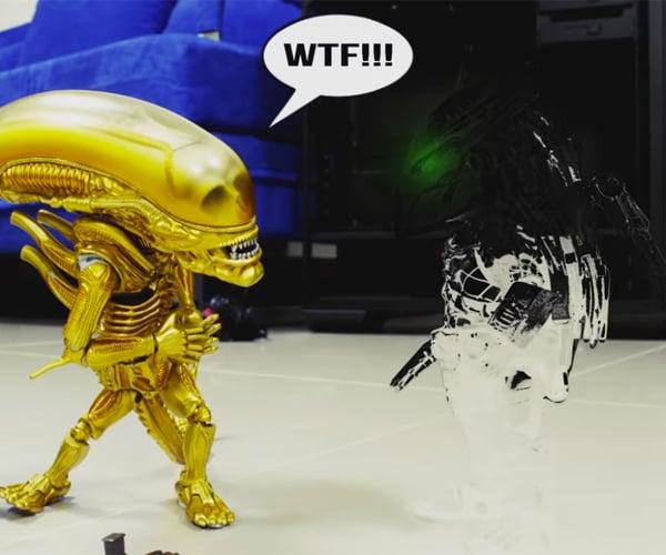 Alien vs. Predator Fan Stop Motion Short Film