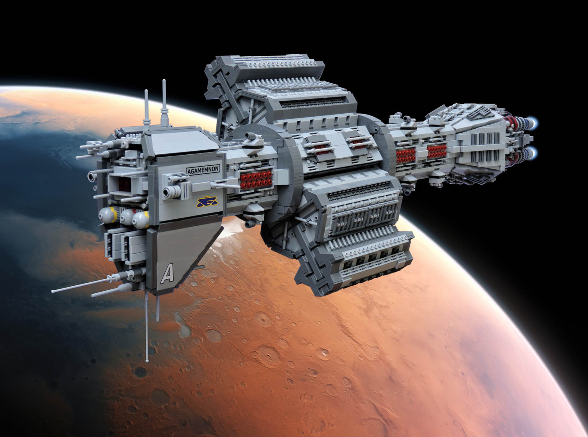 Babylon 5 EAS Agamemnon Recreated In LEGO
