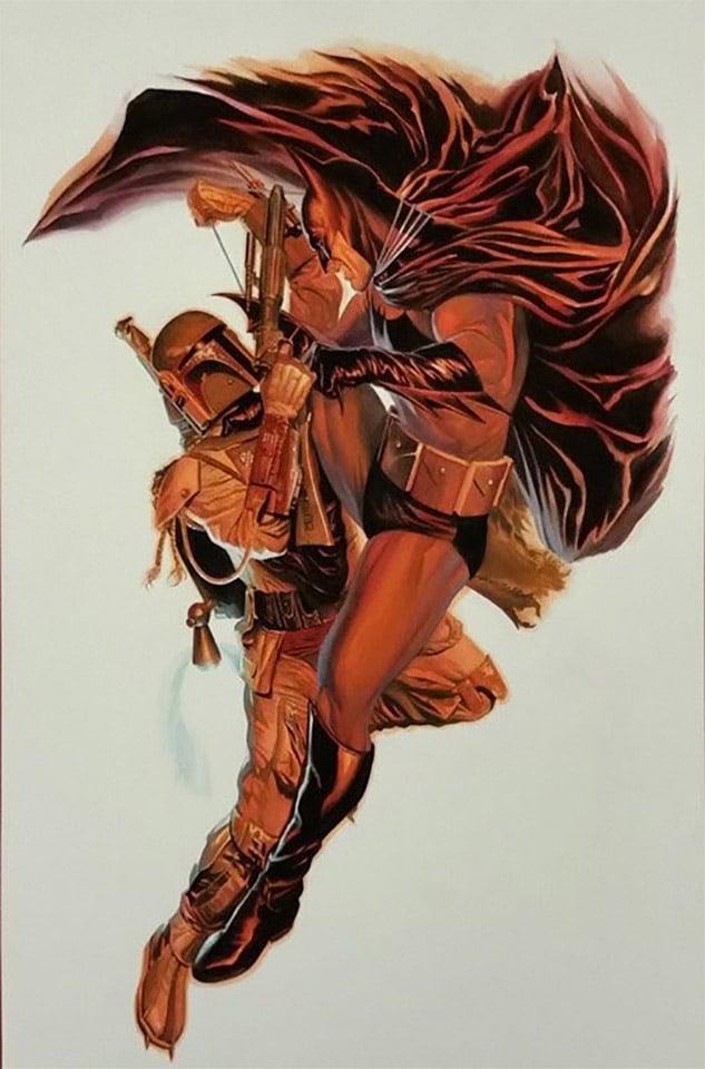 Artist Pits Batman vs. Boba Fett