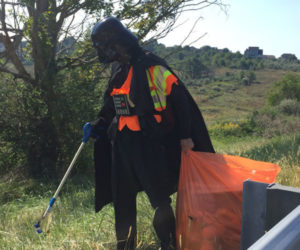 Darth Vader Adopts a Highway, Picks up Roadside Trash