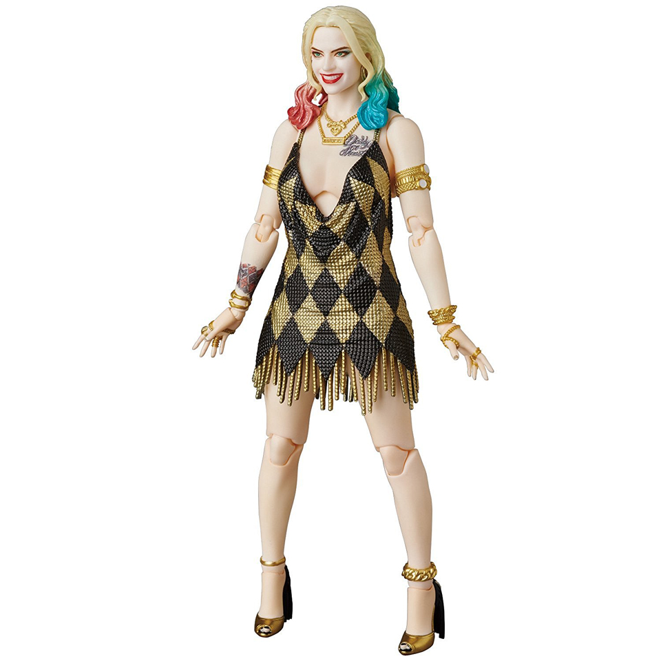 medicom mafex suicide squad harley quinn dress version action figure mightymega. Black Bedroom Furniture Sets. Home Design Ideas