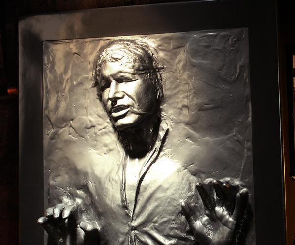 Sideshow Han Solo in Carbonite Life-size and 1/6 Scale Figures