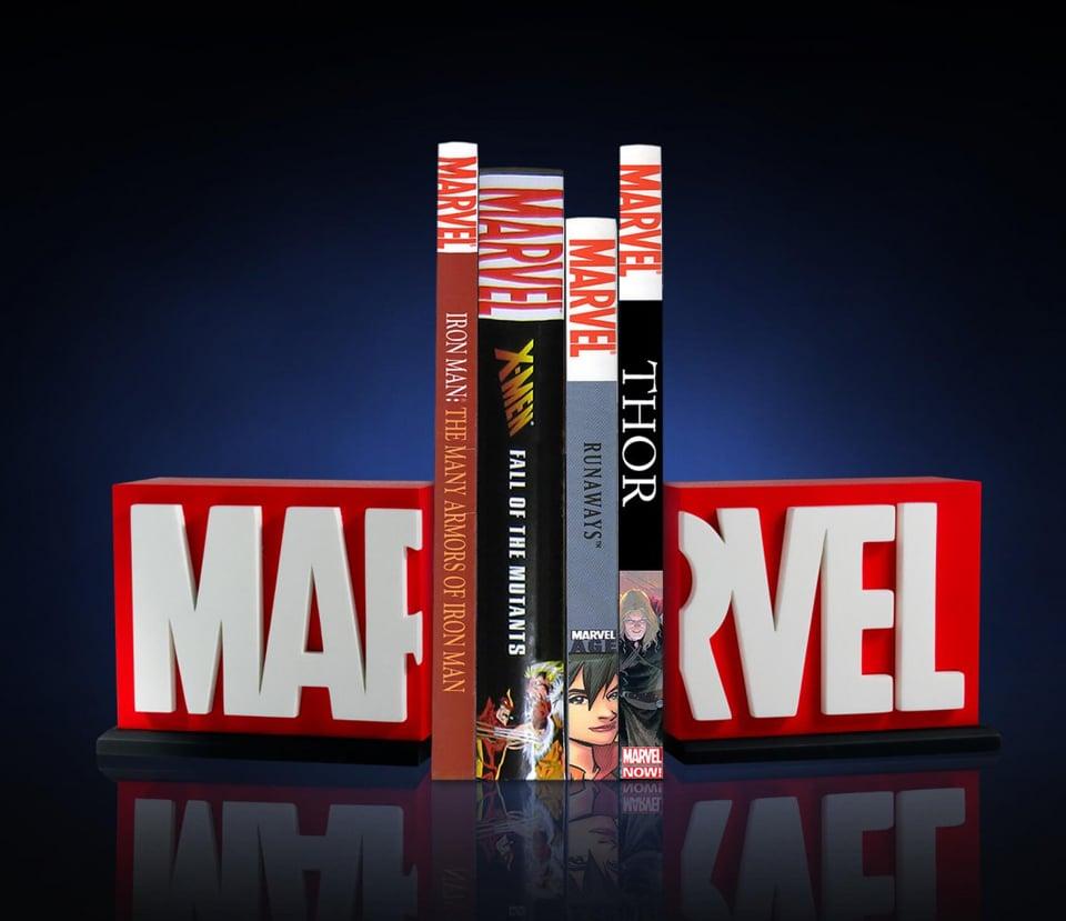 Gentle Giant Marvel Logo Bookends