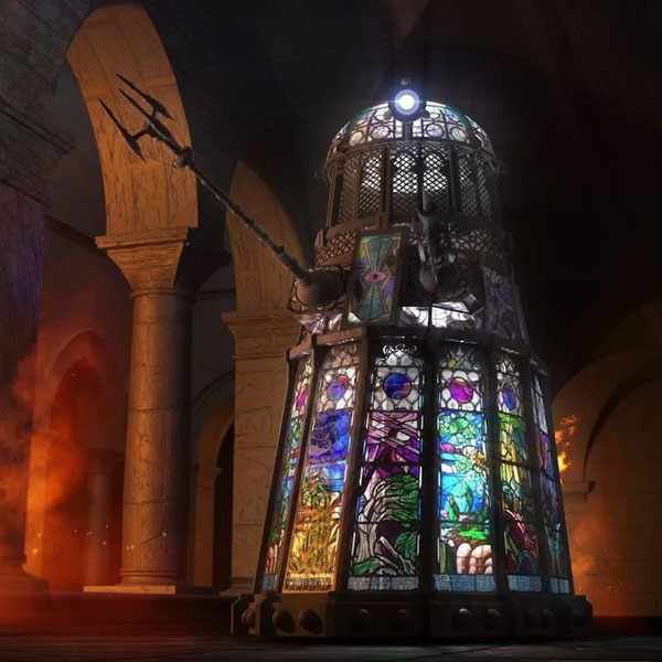 This Stained-Glass Dalek Belongs In a Church: Excommunicate?
