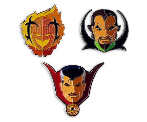 Mondo Doctor Strange Enamel Pins