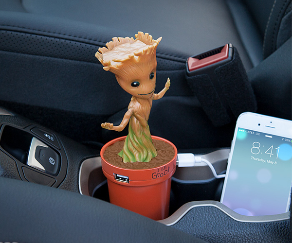 ThinkGeek Dancing Groot USB Car Charger