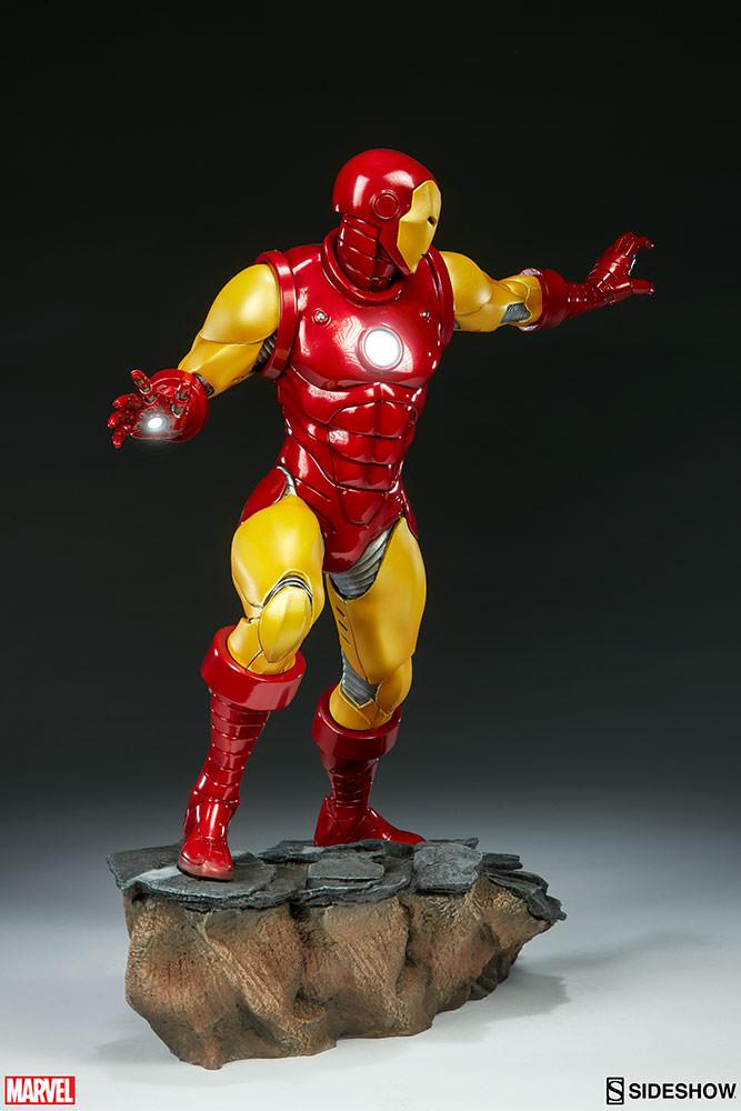sideshow iron man avengers assemble statue mightymega. Black Bedroom Furniture Sets. Home Design Ideas