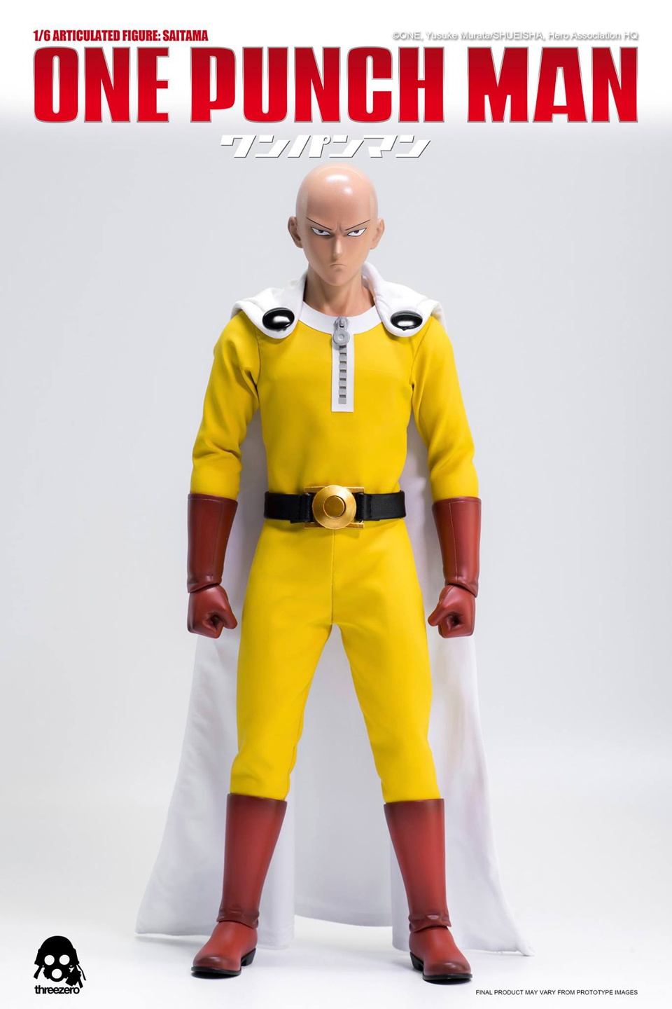 Threezero One Punch Man Saitama 1/6 Scale Action Figure
