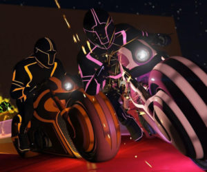 TRON and Grand Theft Auto Collide