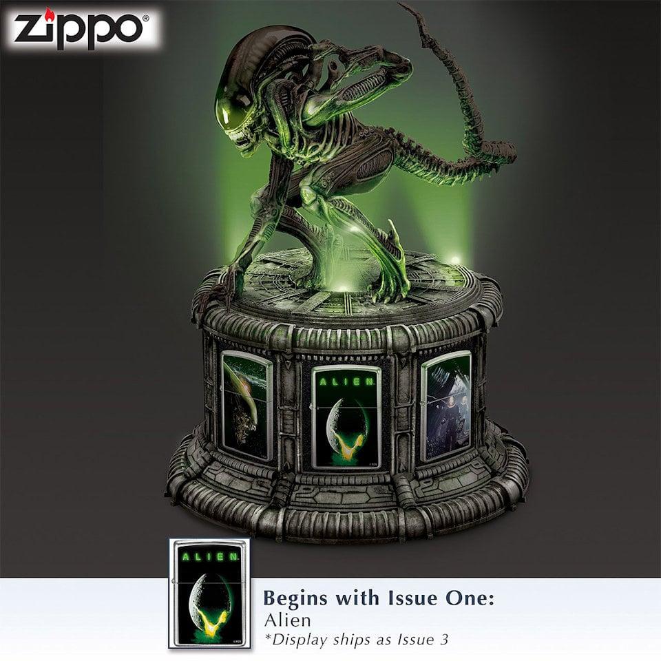 Alien Zippo Lighter Set