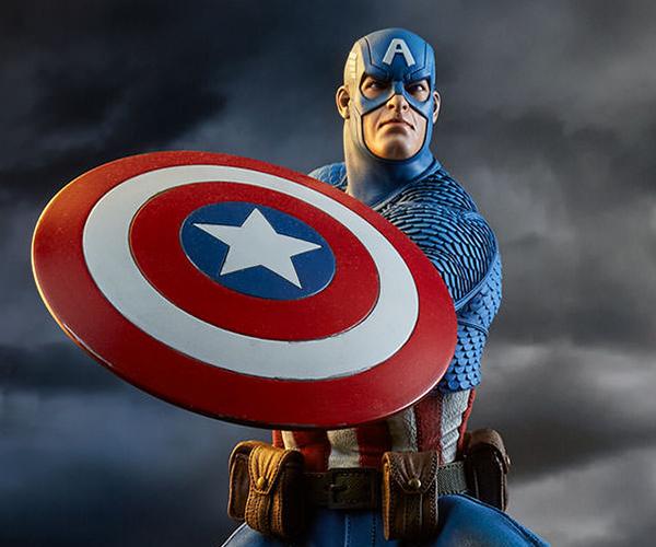 Sideshow Captain America Avengers Assemble Statue