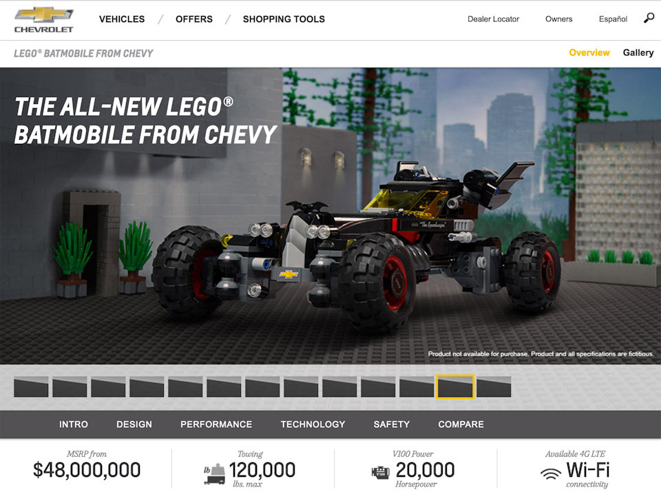 Chevy LEGO Batmobile: Crimefighting is Awesome