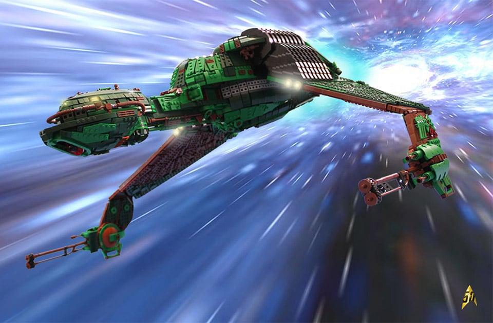 Star Trek Klingon Warship Built with 25,000 LEGO Bricks