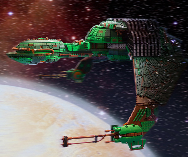 Star Trek Klingon Warship Built with 25,000 LEGO Bricks