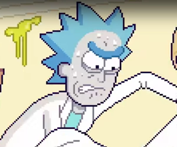 The Rick and Morty Intro in 8-Bit Style