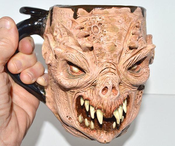 Scravis Grotesque Portrait Mugs
