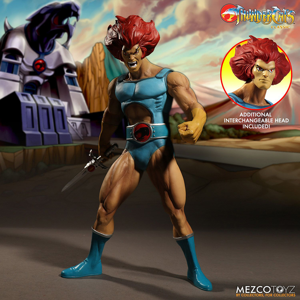 Mezco Thundercats Mega Scale Lion-O and Mumm-Ra Action Figures