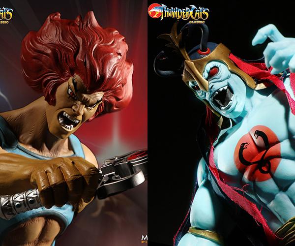 Mezco Thundercats Mega Scale Lion-O and Mumm-Ra Action Figures