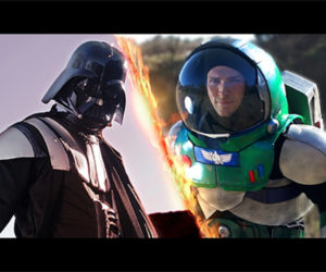 Darth Vader Takes on Buzz Lightyear