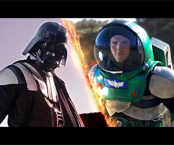 Darth Vader Takes on Buzz Lightyear
