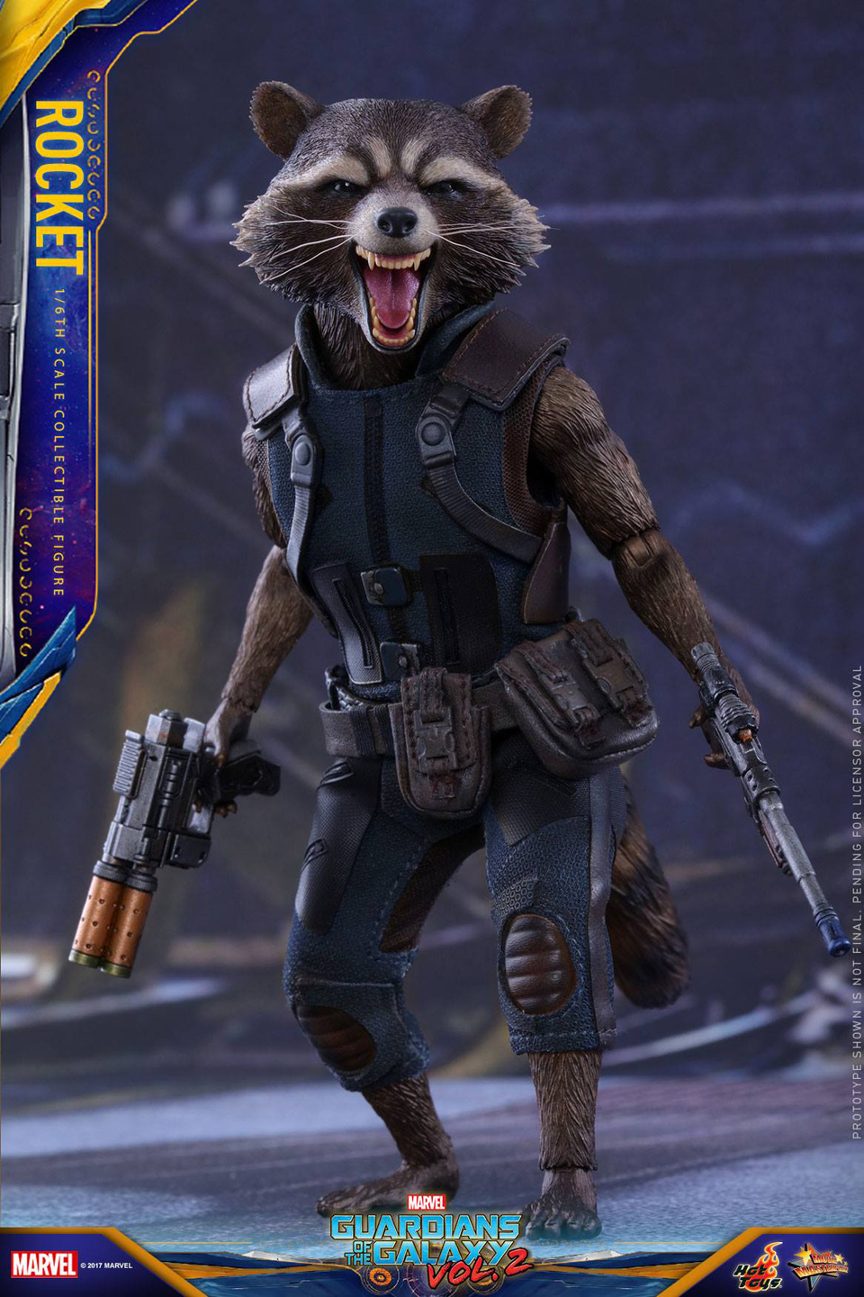 Hot Toys GotG Vol. 2 Rocket Raccoon 1/6 Scale Action ...
