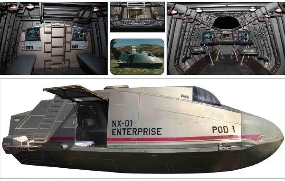 Screen Used Star Trek: Enterprise Shuttlepod 1 Prop on eBay