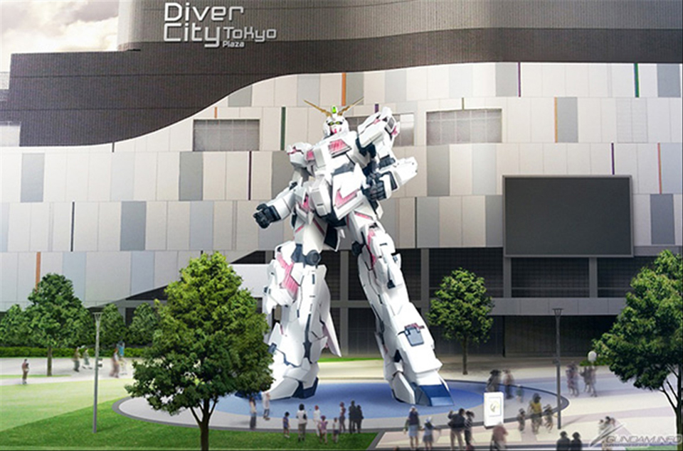 Life-size Gundam RX-78-2 Statue to Be Replaced with Gundam Unicorn