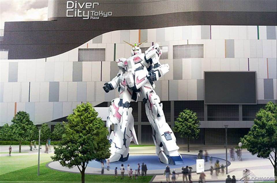 Life-size Gundam RX-78-2 Statue to Be Replaced with Gundam Unicorn
