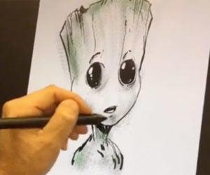 Watch Todd McFarlane Draw Baby Groot