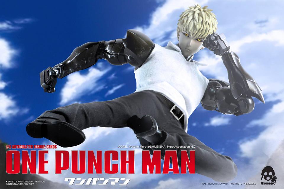 Threezero One Punch Man Genos 1 6 Scale Action Figure Mightymega